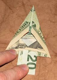 Origami Money Christmas Tree 013 014
