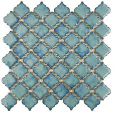 Home Depot Merola Penny Tile by Merola Tile Hudson Tangier Marine 12 3 8 In X 12 1 2 In X 5 Mm