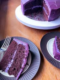 purple velvet cake with white chocolate cheese frosting