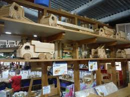 toy trucks made of wood instead of metal and plastic picture of