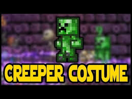 Halloween Event Terraria Mobile by Minecraft Creeper Costume In Terraria New Vanity Set Terraria