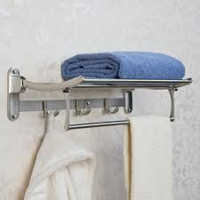 Bathroom Shelf With Towel Bar Wood by Bathroom Shelves Glass Wood And Marble Shelves Signature Hardware