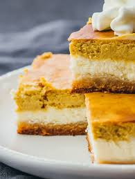 Pumpkin Layer Cheesecake by Low Carb Pumpkin Cheesecake Bars Savory Tooth
