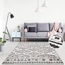 teppich flachflor läufer modern im ethno look stil geometrisch muster wohnzimmer schlafzimmer
