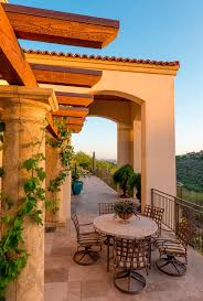 mediterranean patio decor patio mediterranean with tuscan columns