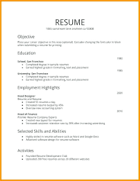 Part Time Job Resume For First Template Example A Free Samples Sample