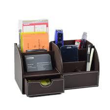 rangement stylo bureau hensych 7 compartiments de rangement multifonction en cuir pu bureau