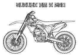 Image Of Free Online Dirt Bike Coloring Pages