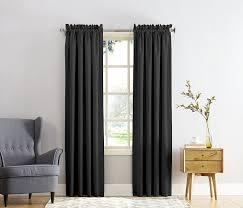 Sound Reducing Curtains Amazon by Amazon Com Sun Zero Barrow Energy Efficient Rod Pocket Curtain