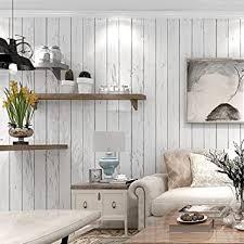nostalgische holztapete vlies weißer streifen schlafzimmer
