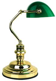Bankers Lamp Shade Only by Table Lamp 3 Stage Touch Dimmer W Glass Shade 40cm Bankers Oriel