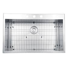 33x22 Stainless Steel Sink Drop In by Ruvati Rvh8001 Drop In Overmount 33