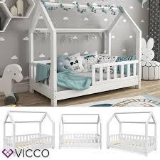 vicco hausbett wiki 70x140cm zaun weiß kinderbett kinderhaus
