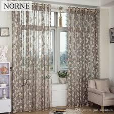 großhandel norne moderne tulle fenster vorhänge für wohnzimmer das schlafzimmer die küche cortina rideaux blätter vine lace gardinen jalousien