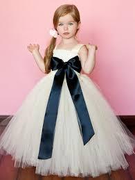2015 Lovely White Little Flower Girls Dresses Tulle Handmade Flowers Sleeveless Bow Girl Vintage Wear Pageant Infant