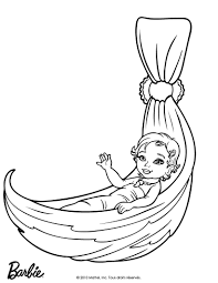 MERLIAH BABY MERMAID Free Coloring Page