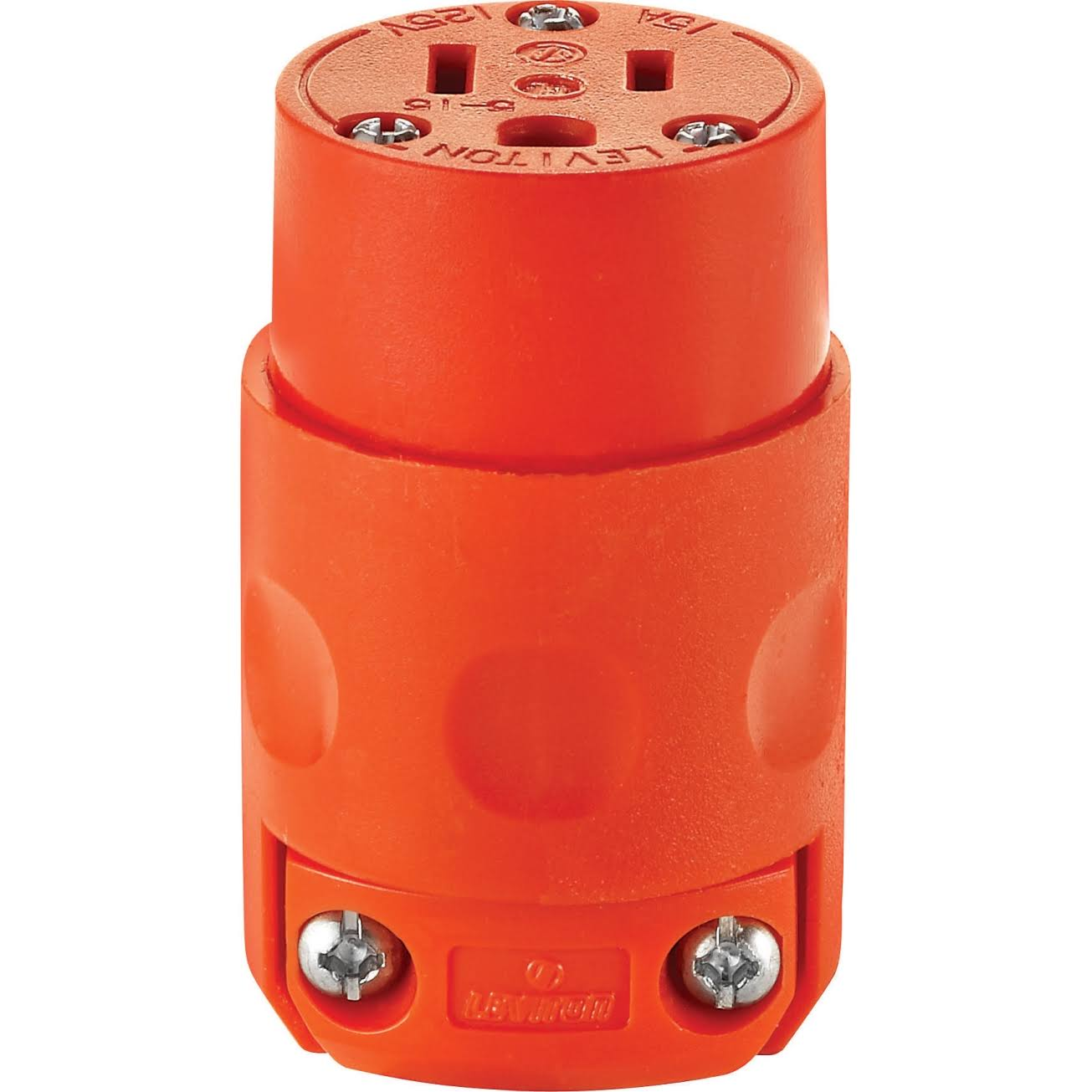 Leviton Wire Plug Connector Commercial - 15 Amp, Orange