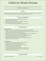 pleasant child care resume sle 8 child care worker resume