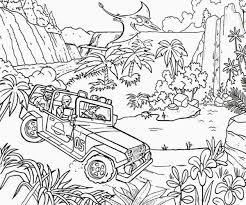 Movie Jurassic Park Coloring Pages