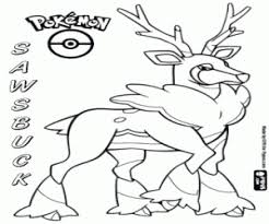 Sawsbuck In Winter Pokemon The Deer Autumn Coloring Page