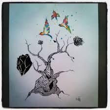 l arbre a cadre tableau peinture dessin encre l arbre abstrait tableau dessin