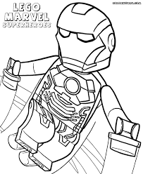 Lego Iron Man Coloring Pages 12 Free