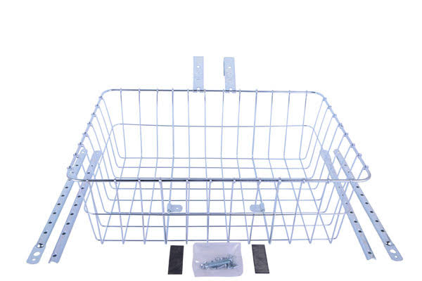 Wald Basket 1392 Standard with Multifit Braces - Silver, Large 18 x 13 x 6