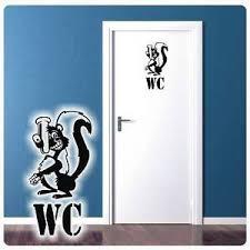 details zu toilette wc stinktier wandtattoo türaufkleber badezimmer bad lustig t900