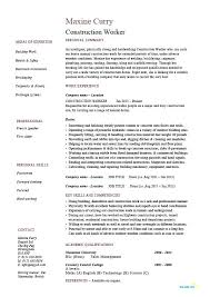 Sample Of Construction Resume Worker Office Manager Company