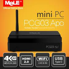 pc bureau wifi fanless windows 10 mini pc de bureau mele pcg03 apo 4 gb 32 gb
