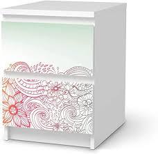 creatisto möbelfolie selbstklebend passend für ikea malm kommode 2 schubladen i möbeldeko möbel aufkleber folie i wohndeko für esszimmer und