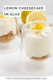 lemon cheesecake in glass tartlets made in berlin