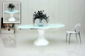 White Oval Dining Table Tables Extension Room Furniture Round