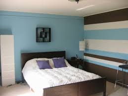 wandgestaltung schlafzimmer blau grau