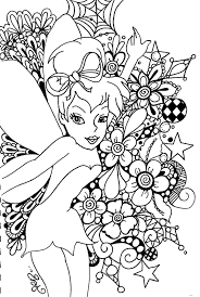 Free Tinkerbell Christmas Coloring Pages Printable For Kids Disney Colouring Print