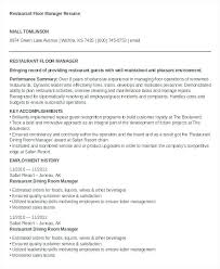 Resume For Restaurant Free Word Documents Download Premium Templates Owner Template