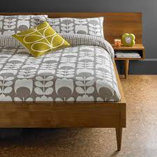Orla Kiely Flannel Tulip  Cotton Quilt Cover Mushroom Dove Mill