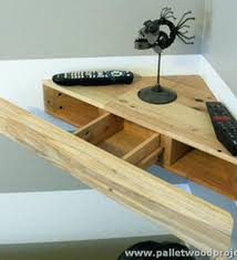 Tv Corner Shelves Pallet Wall Shelf Plans Wood Projects Stand