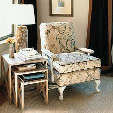 Upholstered Chair And Side Tables For Room Corner Decorating