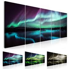 wandbilder wohnzimmer leinwand bilder polarlicht