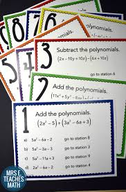 Algebra Tiles Online Calculator by Add And Subtract Polynomials Stations Maze Activity Maze