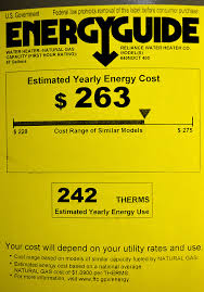 New Water Heater 03 30 2016 I Was Confused By The Yellow Energyguide