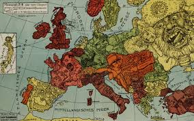 Where Did The Lusitania Sunk Map by Awesome Central Powers Anthropomorphic Political Cartoon Based On