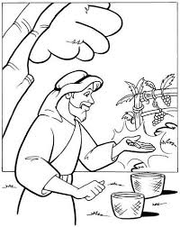 Vineyard Workers Parable Coloring Pages Sketch Page