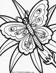 Printable Geometric Butterflies Coloring Pages