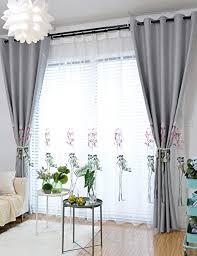 de lactraum gardine wohnzimmer transparent weiß mit