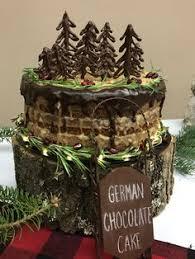 Rustic German Chocolate Christmas Cake