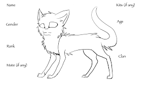 cat creator warrior cat creator template by duskmalfoy on deviantart