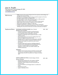 Banking Resume Objective Examples For And Investment Retail