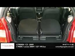 siege citroen c2 annonce occasion citroën c2 hdi 70 airdream airplay 2009